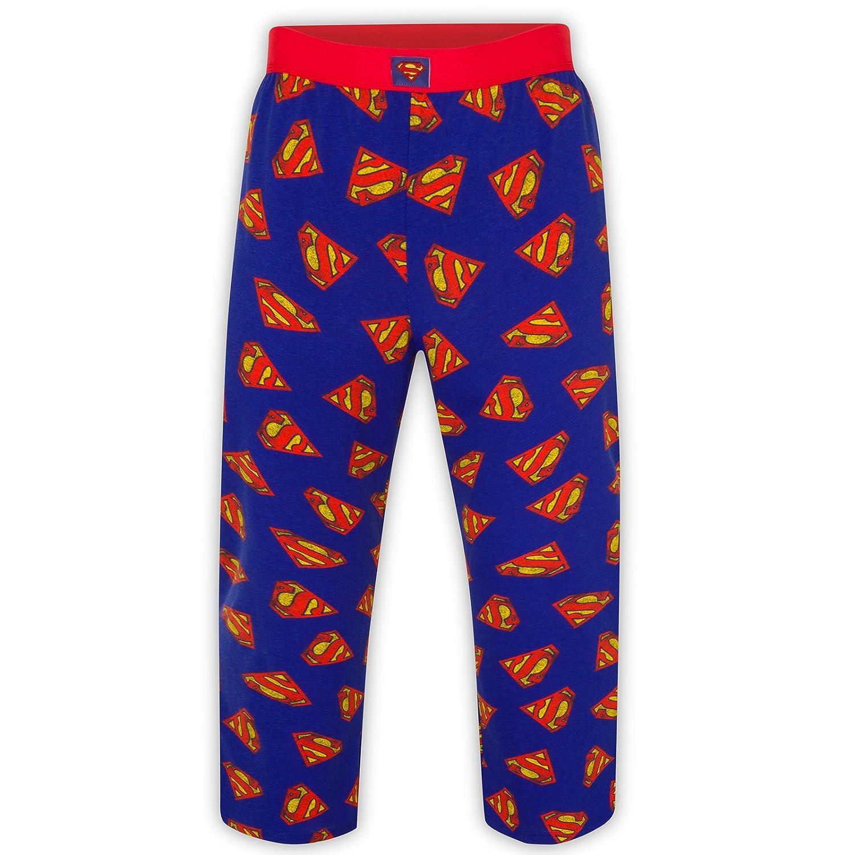 DC Comics Batman Superman Official Gift Mens Lounge Pants Pyjama Bottoms