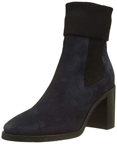 buy popular 69241 f18eb Tommy Hilfiger Damen Knitted Sock Heeled Boot Suede Schlupfstiefel