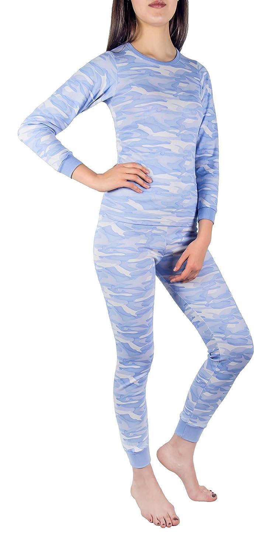 Women's Thermal Underwear Set Top & Bottom Fleece Lined Cotton