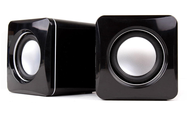 DURAGADGET Altavoces Compactos Para Reproductor MP3 AGPTEK M29 | M28 | A02 | A02S | M07 - Tamañ o Mini - Alta Calidad - Conexió n Mini Jack + USB