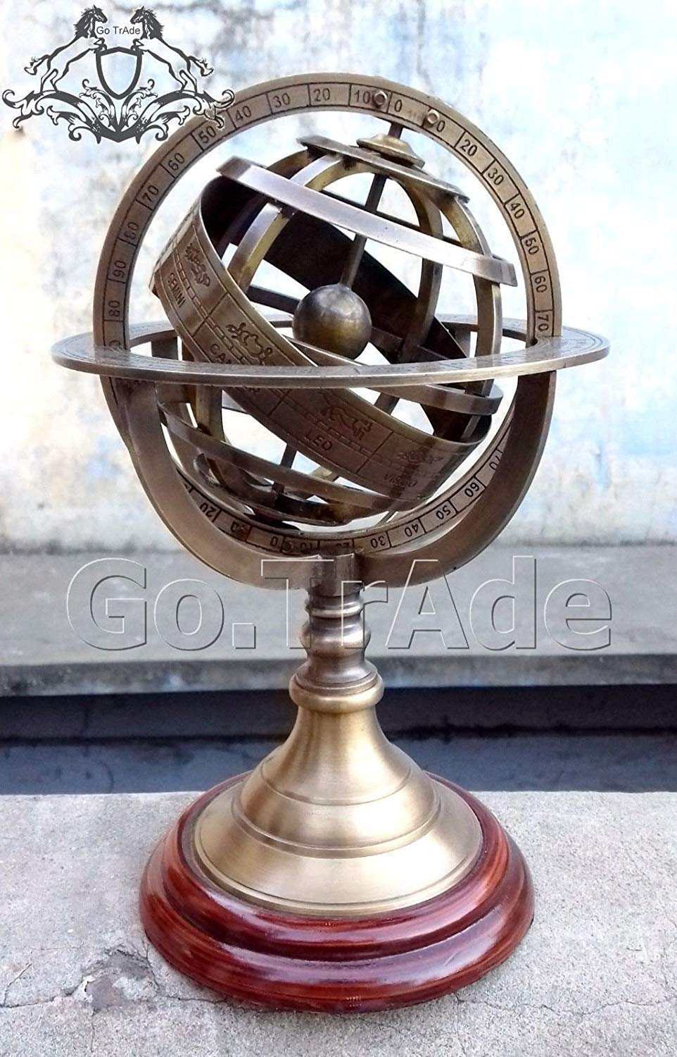 classical.gift.export Details About 8.5'' Engraved Brass Tabletop Armillary Nautical Sphere Globes