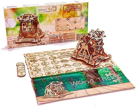 Puzzle madera 3D - Juego de Piratas con ruleta de la fortuna mecánica: Amazon.es: Juguetes y juegos