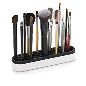 1f8bf3f15a01 Silicone Makeup Brush Holder: Beauty Tool Organizer, Cosmetic Storage,  Sewing and Quilting Notion Stash and Store (Black)