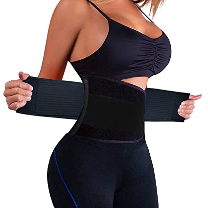 f5e4cc2550 KOOCHY Women s Waist Trainer Belt - Waist Cincher Trimmer - Slimming Body  Shaper Belt - Sport