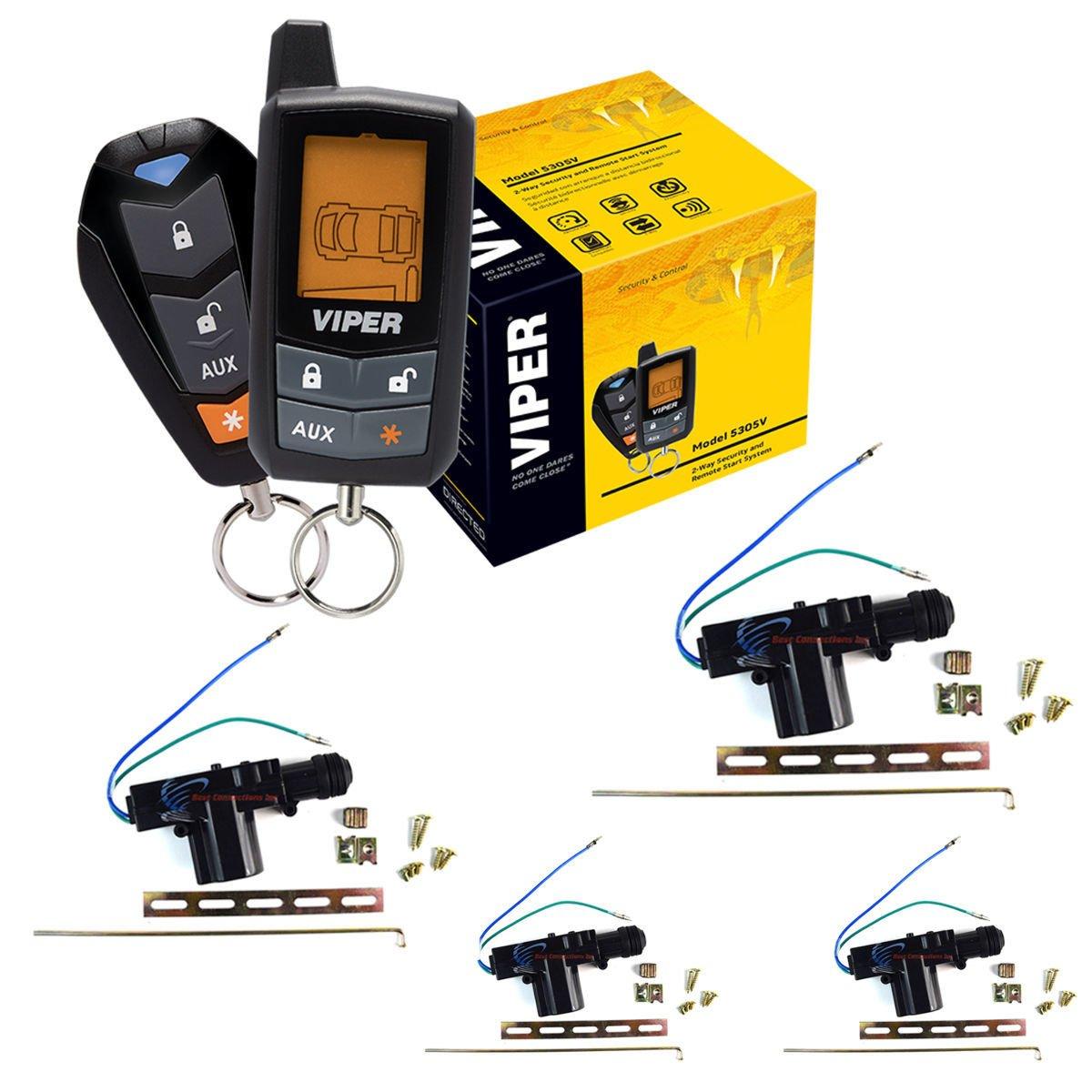 Amazon.com: Viper 5305V 4 Door Locks 2 Way Car Alarm Keyless Entry Remorte  Start System: Automotive