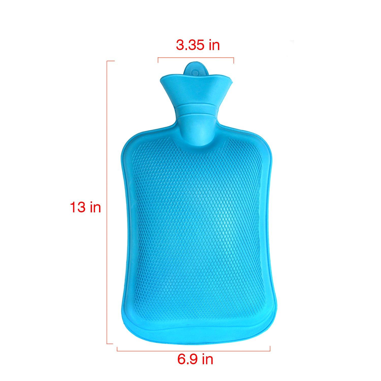 Mture Bolso Agua Caliente Botella De Agua De Gran Capacidad Goma Natural Agua Caliente Bolsa Gris 2L