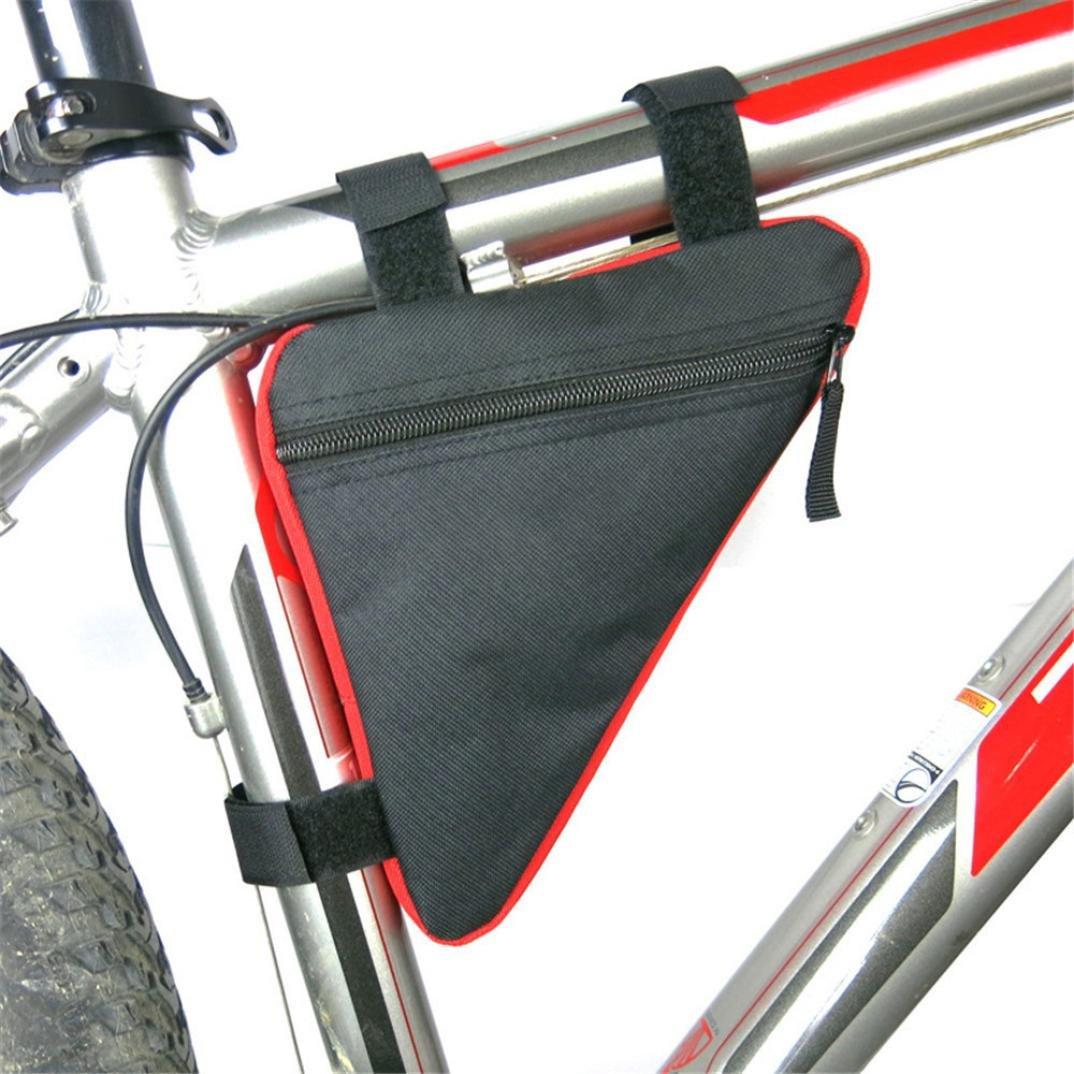 Sacoche de vélo–Diadia B-soul avant de vélo Cadre Triangle Sac Cyclisme Vélo Tube Pouch support Selle de vélo avec crochet et passant rubans pour randonnée Clambing Cyclisme Camping Red