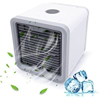 Mini Luftkühler, Mobile Klimageräte, Luftkühler USB Air Cooler Conditioner mit Luftbefeuchter & Luftreiniger Luftkühler Mobile Klimageräte Wasserkühlung Zimmer Raumentfeuchter LoiStu Air Coole