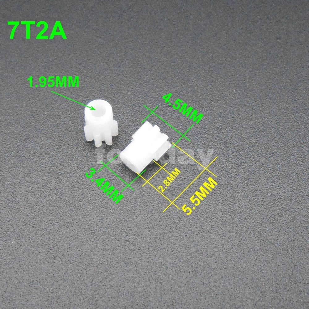 Fevas 20PCS//LOT Plastic Spur Gear Gears 0.3M 0.4M 0.5M 0.3 0.5 Modulus Aperture 0.8MM 1MM 2MM 7T 8T 9T 10T 11T 12T 13T 14T 15T 16T 18T Number of Teeth: 0.5M9T2A