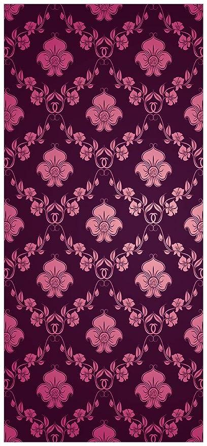 Posterdepot Door Poster Floral Damask Wallpaper In Pink Purple Size KTT0456 93 X