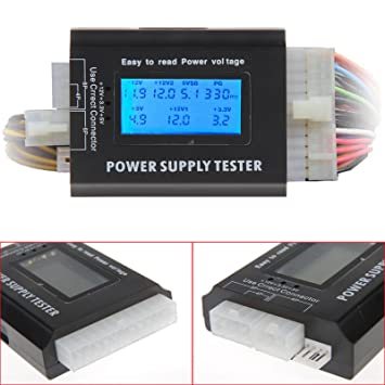 PC Computer LCD 20/24 Pin 4 PSU ATX BTX ITX SATA HDD Digital Power ...