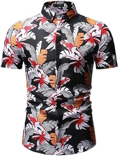 Camisas Hawaianas Hombre Manga Corta Camisas Estampadas Flores Camisa Delgada Suave Ligero Transpirable Personalidad Hombres Moda Verano Vacaciones Tops Streetwear Casual Shirt Playa Fiesta: Amazon.es: Ropa y accesorios