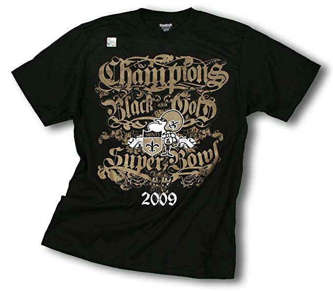 7e67cc60f Amazon.com  New Orleans Saints SB 44 NFL Champions T-shirt (Medium ...