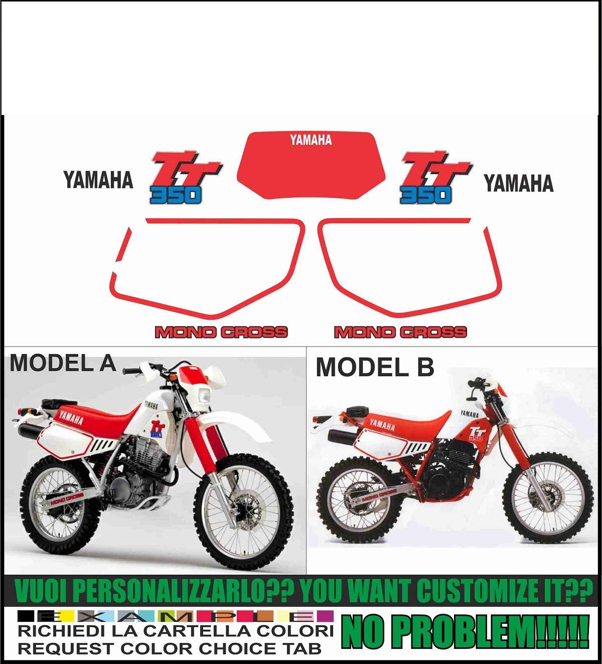 Kit adesivi decal stickers YAMAHA TT 350 1987 1992 INDICARE MODELLO A o B