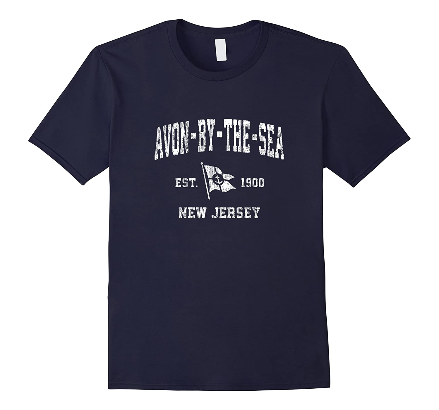 Avon By The Sea New Jersey NJ Vintage Boat Anchor Flag Tee-FL