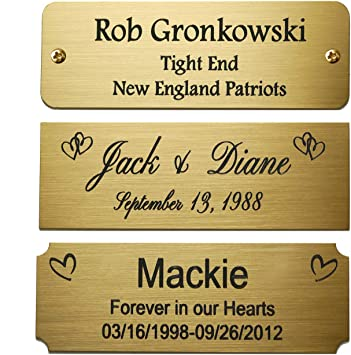 Date Personalized Silver Brushed Heart Place Card Frame Engraved Name