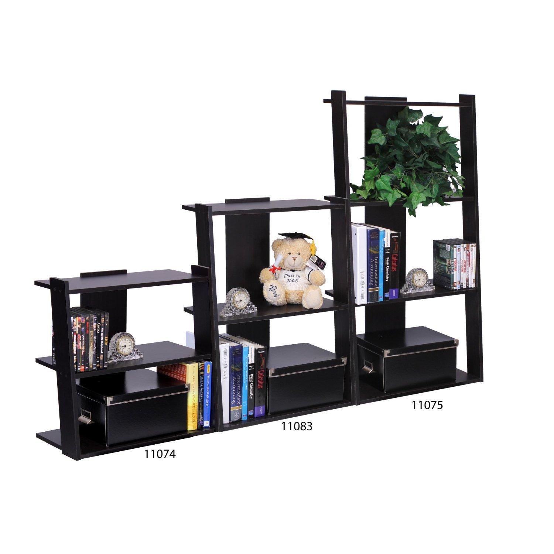 Furinno 11075EX Hidup Tropika Tall Ladder Shelf, Espresso