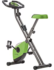 SKANDIKA Foldaway X-1000 X-Bike Vélo d'appartement Pliant avec capteurs de pouls à la Main - 8 Niveaux de Resistance, avec/sans Dossier/Bluetooth