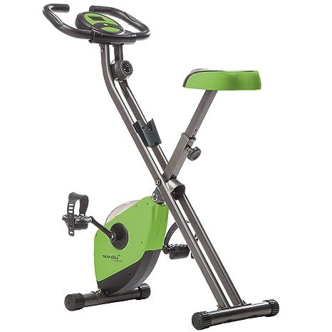 skandika Foldaway X-1000 - Bicicleta Estática Fitness - 8 Niveles de Resistencia - Máx.110 kg (Verde): Amazon.es: Deportes y aire libre