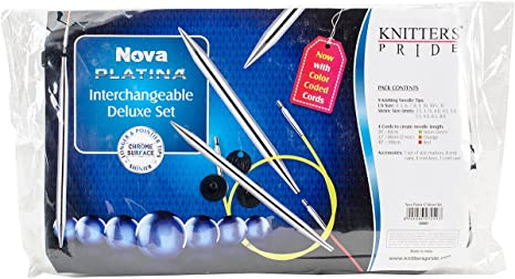 Knitters Pride Nova Platina 5 inch 13 cm Double Pointed Needle Set