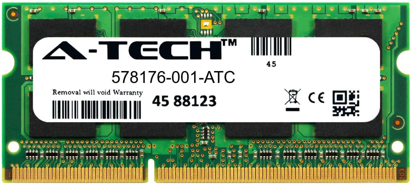 A-Tech 1GB Replacement for HP 578176-001 - DDR3 1333MHz PC3-10600 Non ECC SO-DIMM 1.5v - Single Laptop & Notebook Memory Ram Stick (578176-001-ATC)
