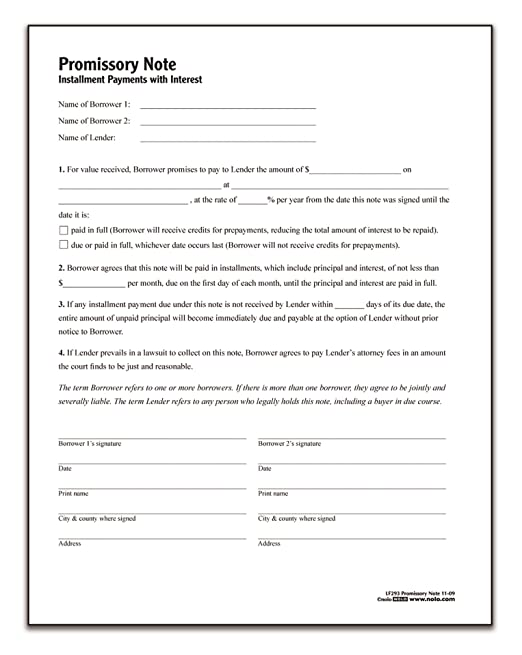 AmazonCom  Adams Promissory Note Forms And Instructions Lf