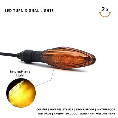 MFC PRO Universal Hi-quality LED Turn Signal Light for Kawasaki Ninja 650 650R Z800 ZX6R Honda MSX125 Grom125 Suzuki GSXR 600/750/1000 GS500F Yamaha YZR R1/R3/R6 (Amber): Automotive [5Bkhe0403245]