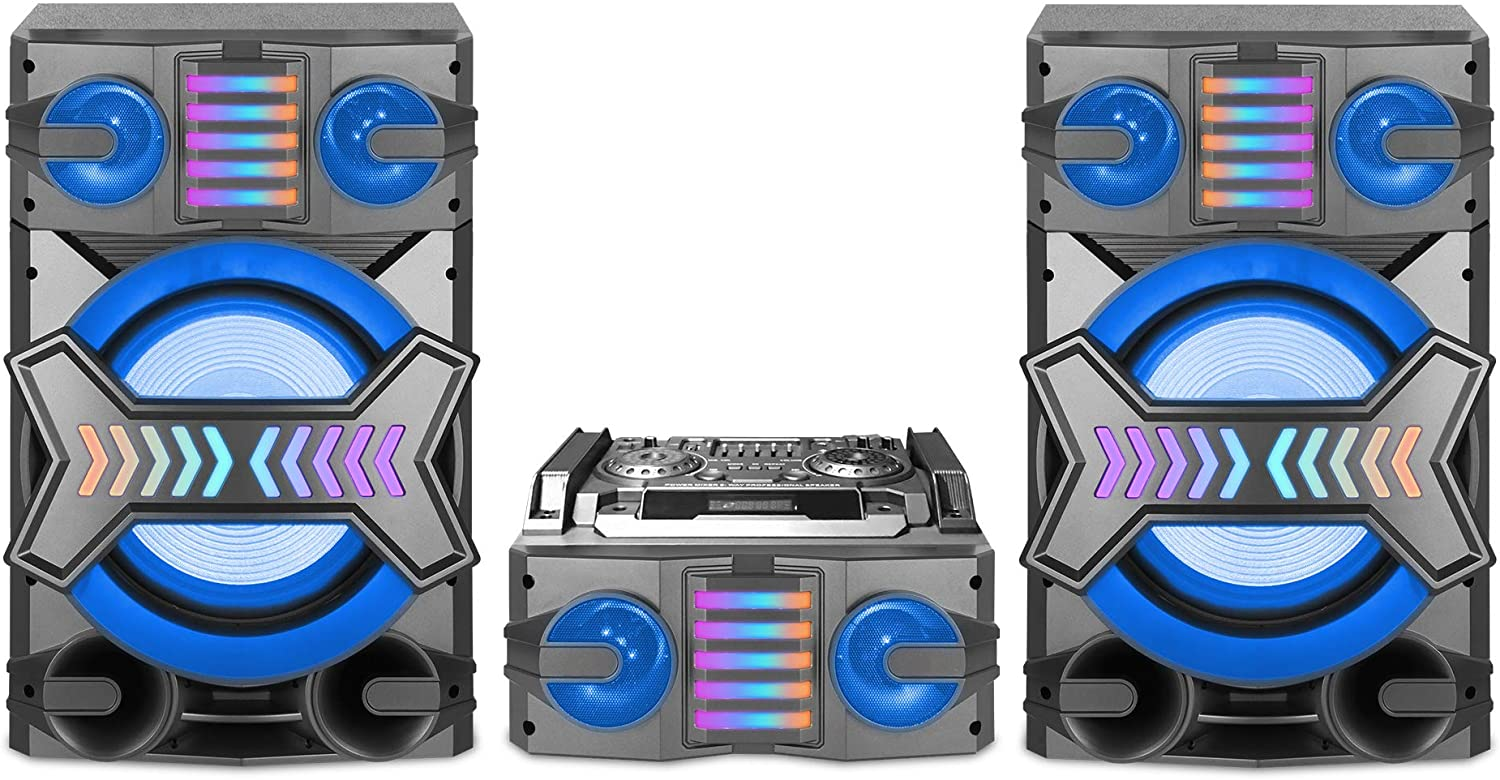Technical Pro MS1200BT 5000 WATT Shelf Stereo System with LED 12