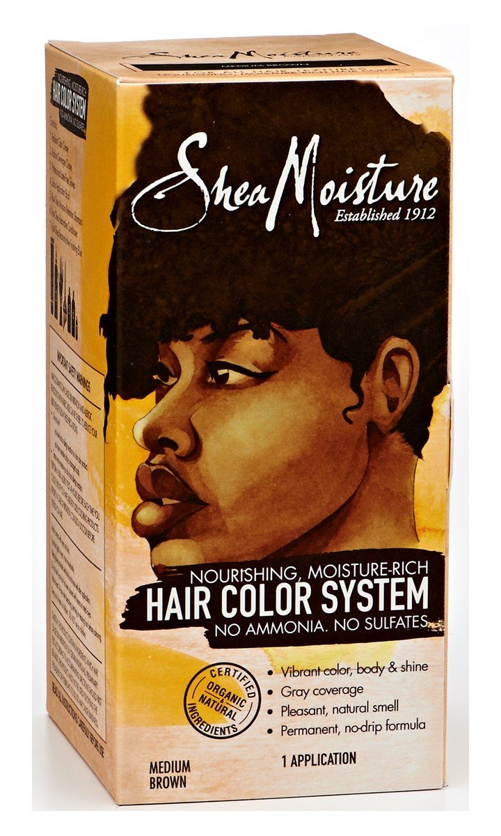 Shea Moisture Certified Organic Medium Brown Hair Color System