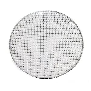 Loghot Multi-Purpose Stainless Steel Cross Wire Round Steaming Cooling Barbecue Racks/Grills/Pan Grate/Carbon Baking Net (Diameter-9.45 inches)