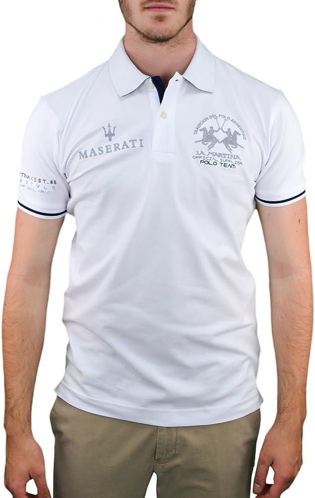 La Martina - Polo - Blusa - para Hombre Blanco S: Amazon.es: Ropa ...