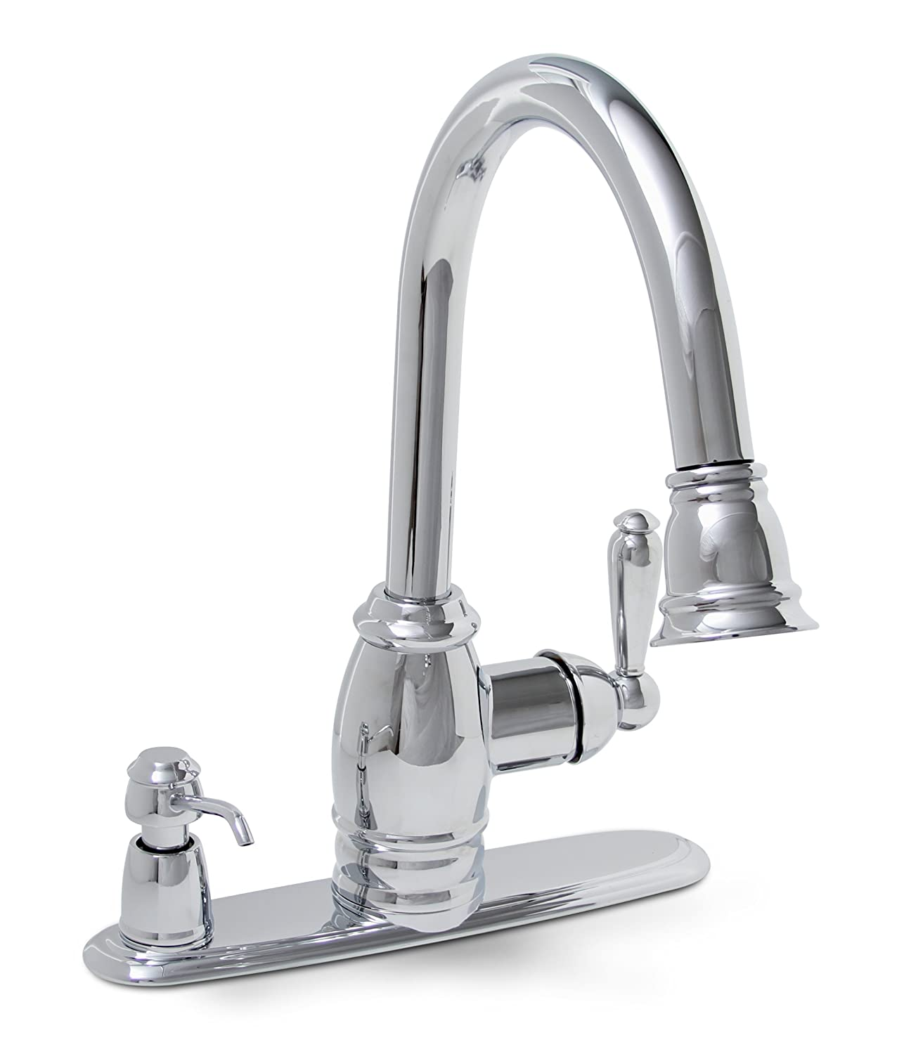 Premier 120110LF Sonoma Lead Free Pull Down Kitchen Faucet With Matching  Soap Dispenser, Chrome   Touch On Kitchen Sink Faucets   Amazon.com