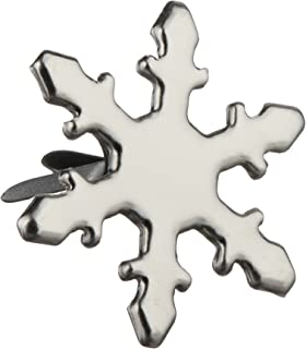 Silver Snowflakes fasteners