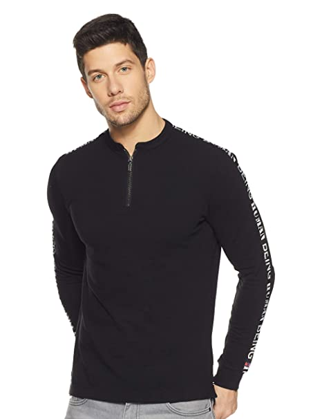 fe7ab997 Being Human Men's Solid Regular Fit T-Shirt: Amazon.in: Clothing ...