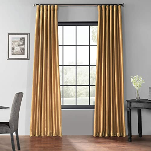 HPD Half Price Drapes PDCH-KBS8BO-108 Blackout Vintage Textured Faux Dupioni Curtain 1 Panel