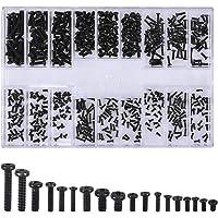 500 Stks Schroeven Universele Zwarte Schroeven Kits M1.2 M1.4 M2 Verzonken & Ronde Schroeven Elektronische Reparatie…