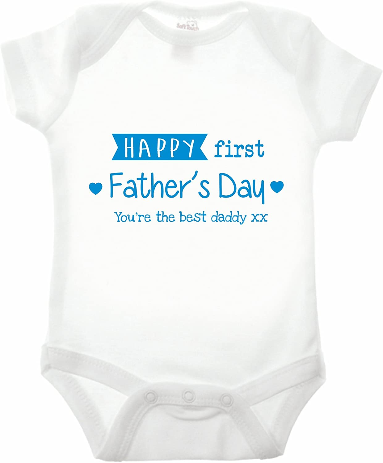 Reality Glitch Happy First Fathers Day Strampler