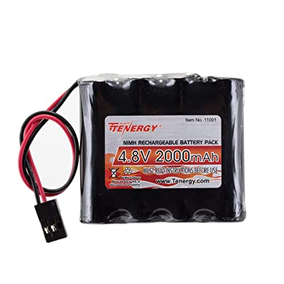 Tenergy NiMH Receiver RX Battery with Hitec Connectors 4.8V 2000mAh High Capacity Rechargeable Battery Pack for RC Receivers, RC Aircrafts and More: Toys & Games