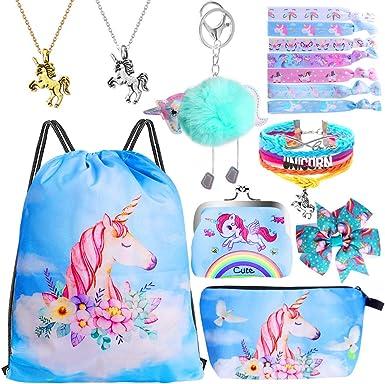 Unisex Drawstring Backpack Designer Rainbow Unicorn cat Print Cinch Sack Travel