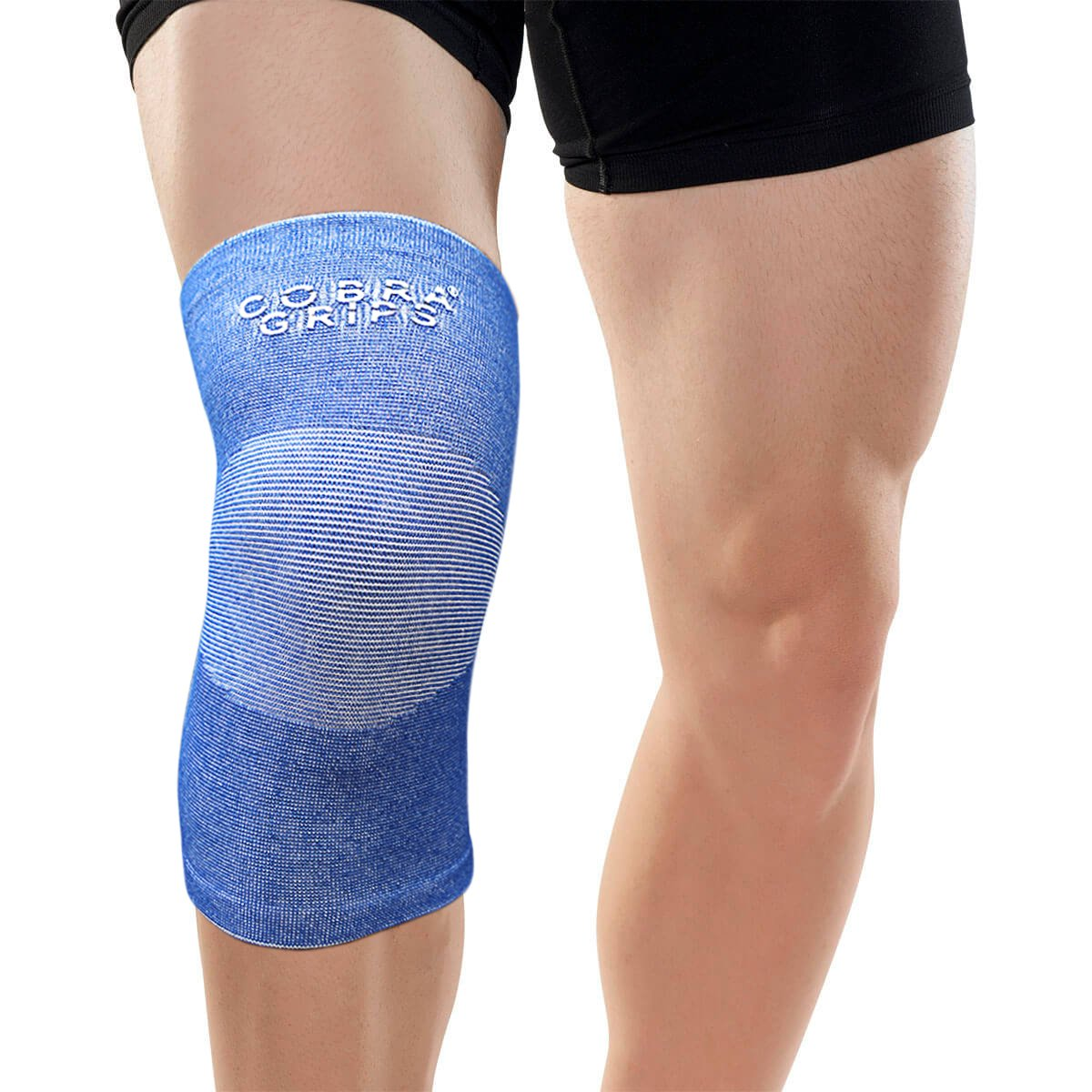 Bamboo Knee Support Sleeves (Pair) for Joint Pain and Arthritis Relief, Improved Circulation Compression – Effective Support for Running, Jogging,Workout, Walking, Hiking and Recovery Grip Power Pads