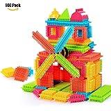NEEDOON 100pcs Bristle Blocks Set Toddlers Buliding Creative Active Entertainment Toys for Boys Girls