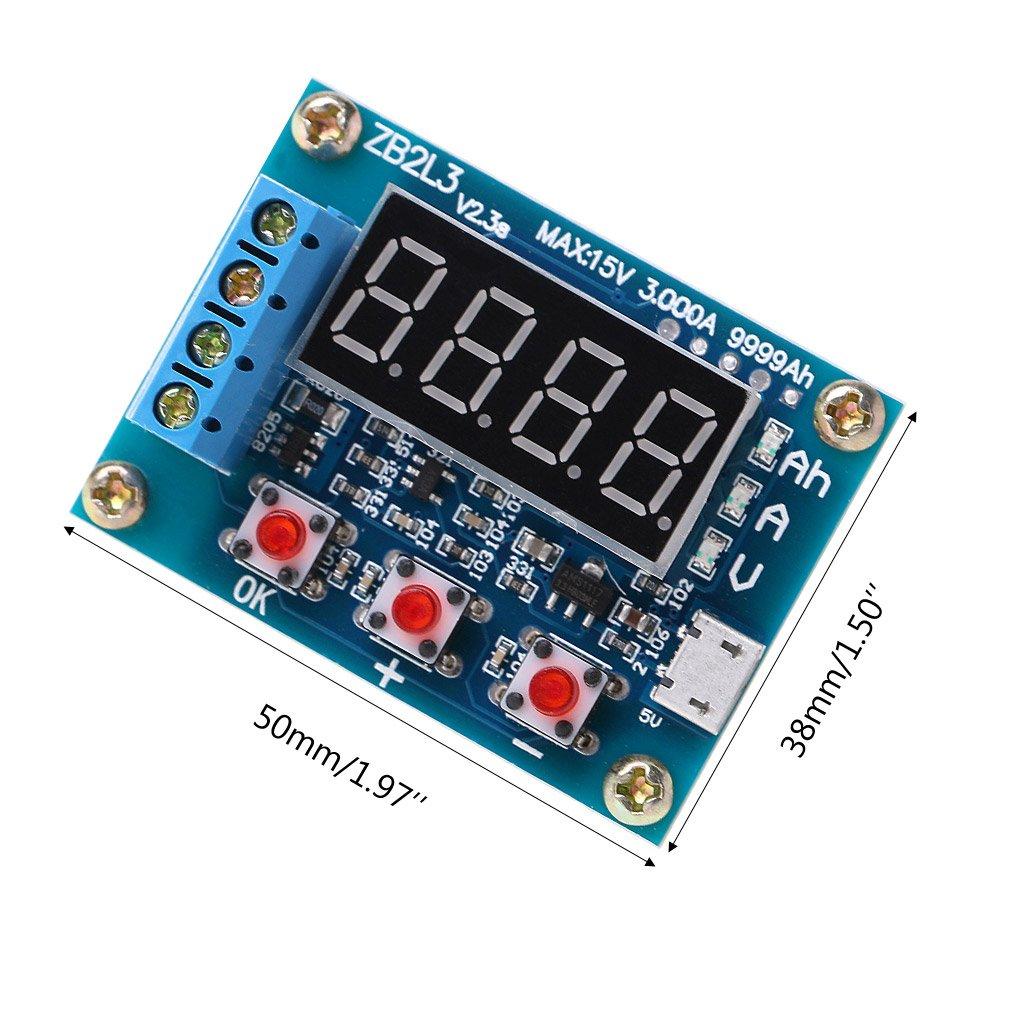 Jenor Zb2l3/Li-Ion Lithium Capacit/é de batterie au plomb M/ètre Analyseur de testeur de d/écharge