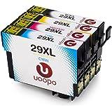 Uoopo 4 Pack Compatibile Sostituzione per Epson 29XL Cartucce d'Inchiostro per Stampante Epson Expression Home XP-235 XP-432 XP-332 XP-335 XP-435 XP-245 XP-247 XP-342 XP-345 XP-442 XP-445.