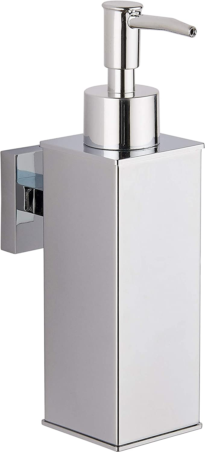 Wall Mounted Soap Dish Holder Dispenser Glass Stainless Steel Square Round Bath