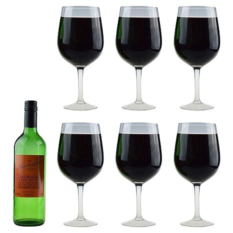 Pista de beber la copa de vino gigante - 750ml botella llena de vino de cristal