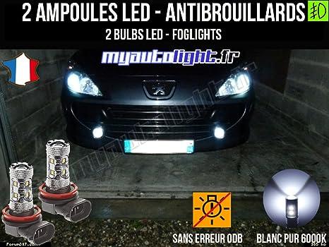 Bombillas LEDs antibrouillards para Peugeot 307 fase 1