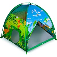 """MountRhino Kids Play Tent & Playhouse,48""""x48""""x42"""" Dinosaur World Indoor Outdoor Kids Tent,Portable Children Tents Playhouse for Boys Girls Imaginative Camping Playground Games Gift"""