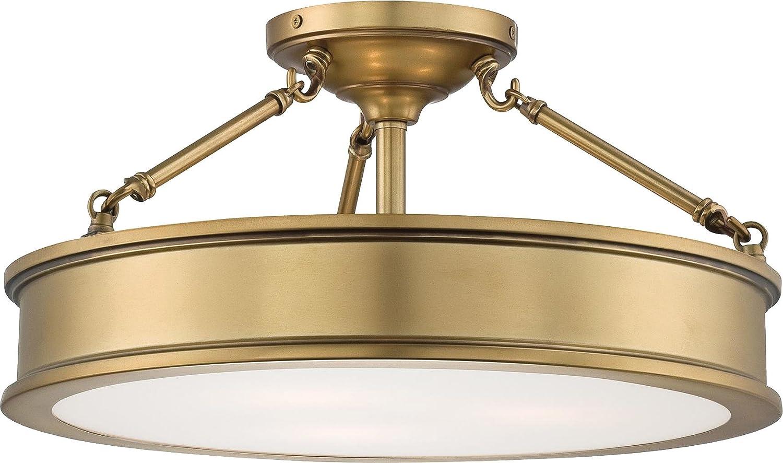 Minka Lavery 4177 249 Harbour Point Glass Semi Flush Ceiling Lighting 3 Light Liberty Gold By Minka Lavery Amazon Co Uk Diy Tools