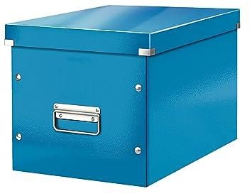 Leitz Caja de almacenaje cúbica, Tamaño grande, Azul, Click & Store, 61080036