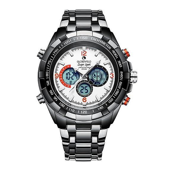 Globenfeld Super Sport — Relojes de diseño para hombre – Reloj deportivo blanco – Edición limitada